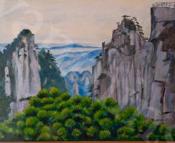 Les montagnes jaunes de Chine