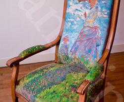 Dialogue à l'oeuvre «Femme à l'ombrelle» de Monet